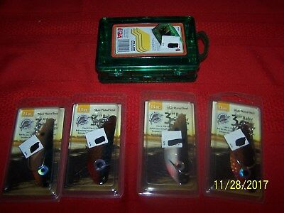 """5 Pcs/Lot of Fishing Lures/Case -  3"""" Baby Bunker Menhaden - Silver Plated Steel"""
