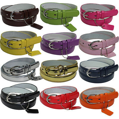 GIRLS/KIDS Skinny Leather Belt 4 sizes S / M / L / XL - 13 COLORS