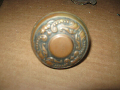 Antique Victorian Eastlake Brass Ornate Door Knob Set