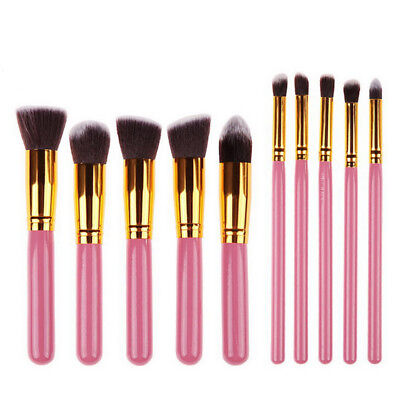 10pcs Pro Makeup Brushes Set Powder Foundation Eyeshadow Eyeliner Lip Brush kits