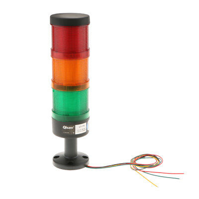 DC 24V Industrial Vehicle Tower Signal Alarm Lamp Red Green Yellow Light #5