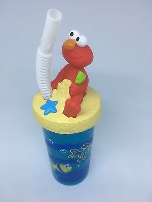 Sesame Street Elmo Drinking Cup With Straw - Bnwot
