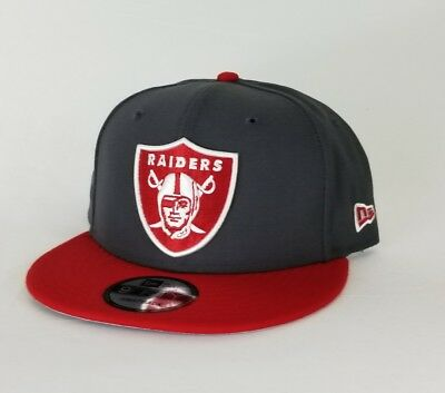release date: 352d1 72076 New Era NFL Dark Gray   Red Oakland Raiders Shield Logo 9Fifty Snapback Hat