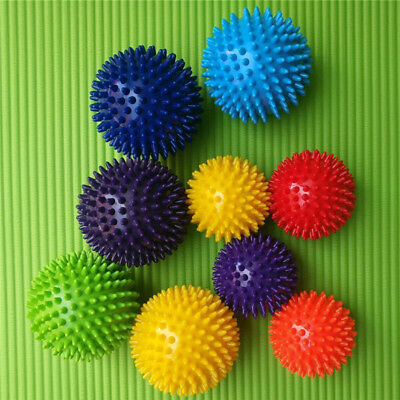 3* Trigger Point Massage Ball Set Spiky PVC Roller Balls for Fitness Pain Relief