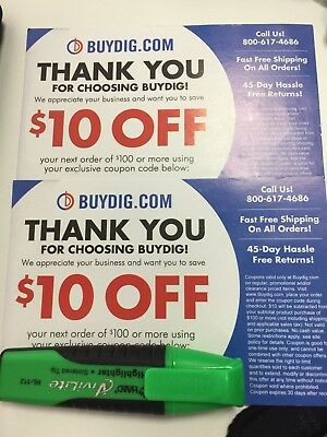 Buydig.com Coupon $10 Code (x2 coupons codes so worth $20 total)