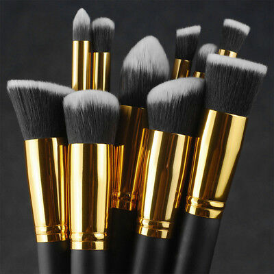 10Pc Soft Makeup Brushes Tool Set Cosmetic Eyeshadow Face Powder Foundation