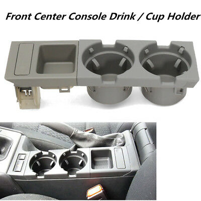 Drink Coin Cup Holder & Oddments Tray Center Console Grey For BMW E46 3 Series