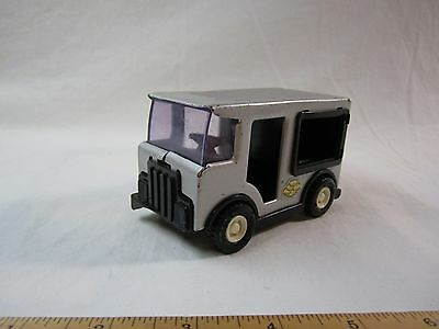 VIntage Bank of Buddy L Coin Bank Van Grey  Toy Automobile Money Childrens NICE!