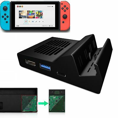 Portable Dock for Switch Type-C to HDMI Replacement Mount TV Mini Dock Station