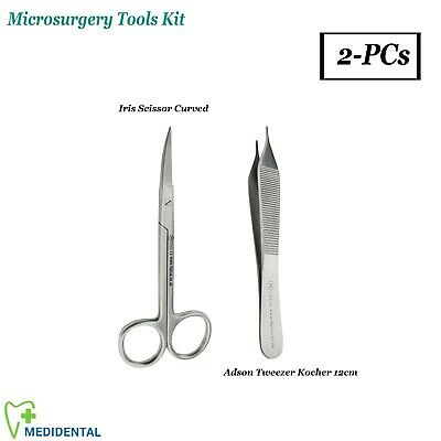 Basic Medical Suturing Suture Removal Kit Iris Scissors Adson Tissue Forceps New