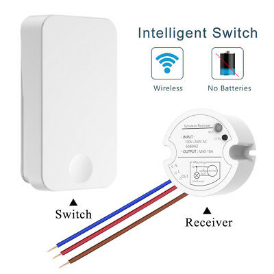 Wireless Wall Light Switch Kit Remote Control No Wiring Controller Sensor Home
