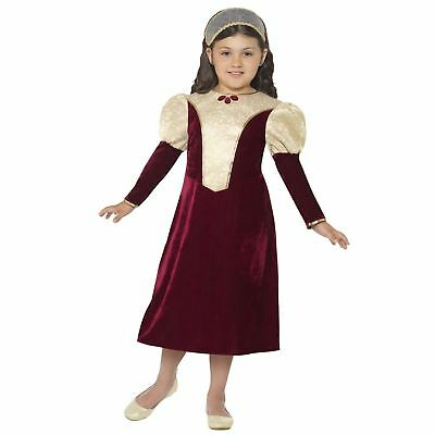 Kids Girls Historic Tudor Damsel Princess Medieval Fancy Dress Book Week Costume