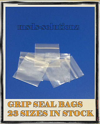 Clear GRIP SEAL BAGS Re-Sealable Plastic Polythene ZIP LOCK Pouches ALL SIZES