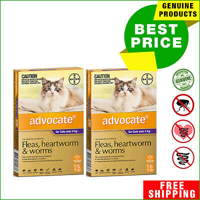 ADVOCATE PURPLE Pack for Cats Over 4 Kg 12 Pipettes + 4 Pipettes FREE AU Shop