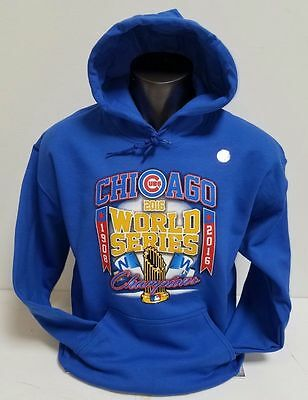 "CHICAGO CUBS 2016 WORLD SERIES CHAMPIONS BLUE HOODIE ""1908-2016""  Design MLB"