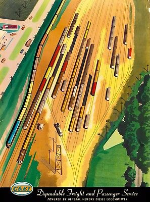 Chicago & East Illinois Railroad United States Vintage Travel Art Poster Print