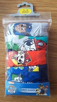 Ex store PICK YOUR SIZE Paw Patrol 5 pack boys briefs pick your size Brand New