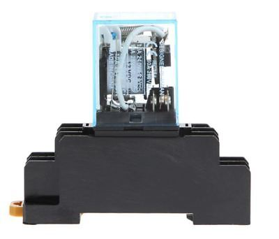 220V AC 8 Pin Relay with Socket Base Included , 10A  DPDT LY2NJ HH62P-L JQX-13F