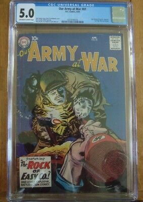 Our Army at War #81 (Apr 1959, DC) First Sgt. Rock CGC 5.0