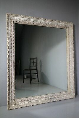 Large Georgian Antique Carved Gesso Mirror.