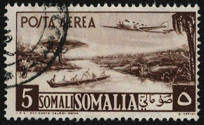 Somalia 1950-1 , 5s Air Post , Sg 253 , Sc C26 , Used