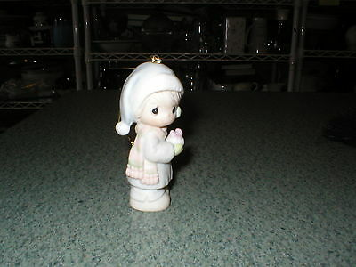 "Precious Moments-1989 ""May All Your Christmases Be White"" #521302RL.E. Ornament"