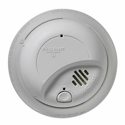 First Alert 9120B6CP 120-Volt Wire-In With Battery Backup Smoke Alarm, 6-Pack