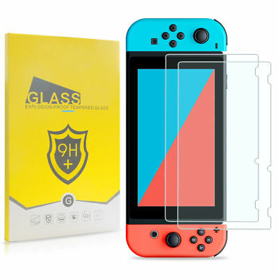 2X Premium HD Tempered Glass Screen Protector Film Guard for Nintendo Switch