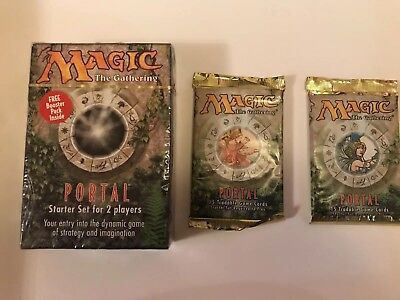 Magic The Gathering - Sealed Portal Starter Deck inc Booster + 2 Sealed Boosters