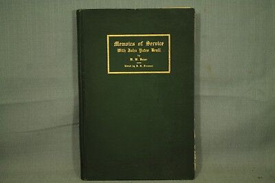 rare antique old book Memoirs of Service Civil War Confederate soldier 1910