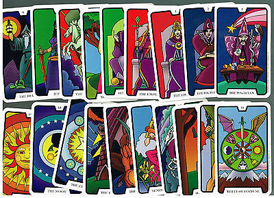 "Caring Psychic Family Tarot Card Full Deck - 22 Colorful 4"" By 2 1/2"" Cards Nice"