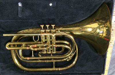 KING 1122 Brass USA Marching Mellophone & Case #581749