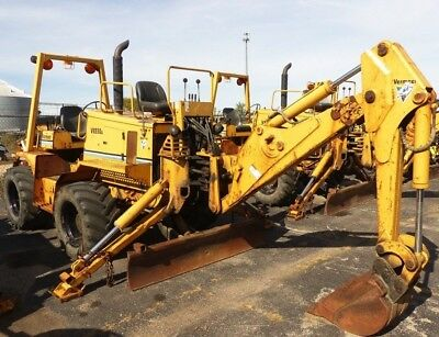 2005 Vermeer 8550 Trencher, with backhoe, 4wd, Diesel 2,547 hours