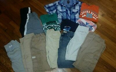 Boys Size 10-12 Lot_ shorts tshirts Button Up spring / summer 15 pieces
