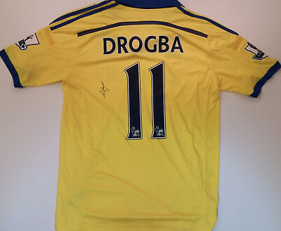 new concept c173a 4e502 DIDIER DROGBA SIGNED Chelsea Jersey