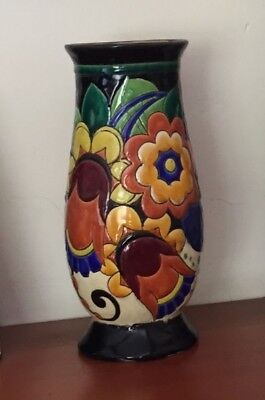Rare vintage Art Deco Vase by Charles Catteau - Boch Freres Keramis Pottery