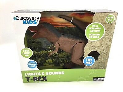 Discovery Kids Lights & Sounds Animated Action T-Rex