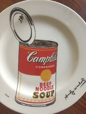 Andy Warhol Block Limited Edition Campbell Beef Noodle Soup Plate 262/1000