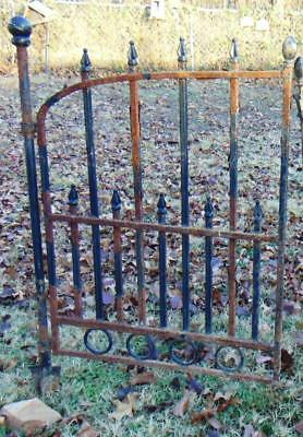 Vintage Wrought Iron Garden Gate Rustic Rusty Architectural Decor 1