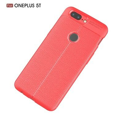 For OnePlus 5T 5 3 3T Shockproof Leather Skin Soft Rubber TPU Slim Case Cover US