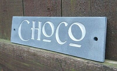 Natural Slate Dog Personalised Name Kennel Gate Door Plaque