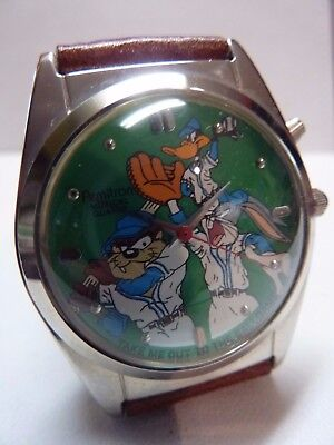 NOS 1994 Armitron Looney Tunes Take Me Out To The Game BASEBALL MUSICAL Watch