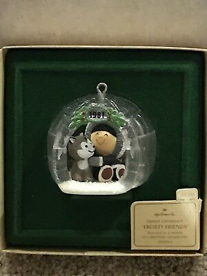 Hallmark Ornament 1981 FROSTY FRIENDS 2nd in Series In BOX with TAG