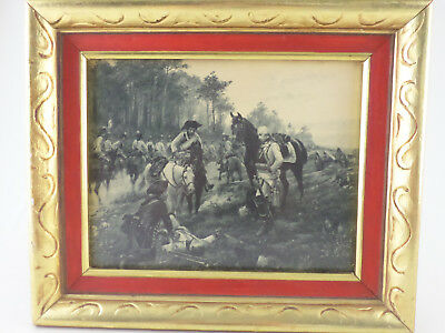 Florentine Gilt Gold & Red 8X10 Picture Frame Vintage French Battlefield Print