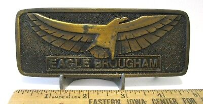 IH International Harvester EAGLE BROUGHAM Big Rig Semi Truck Brass Belt Buckle