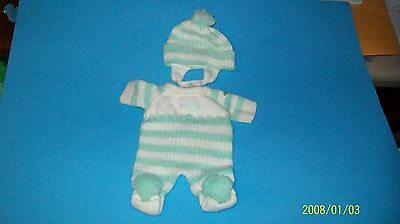 CABBAGE PATCH KIDS bean bottom baby clothes knit outfit 00