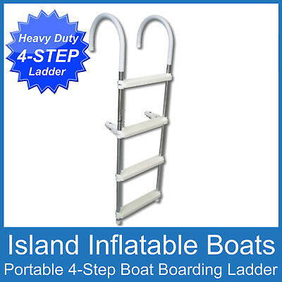 Heavy Duty Quality  Boat Boarding Ladder ✱ 4 Step ✱ Aluminium Folding Free Post