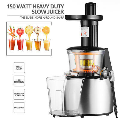 Commercial Heavy Duty Slow Juicer Machine Fruit Vegetable Vitamin Extractor BLK
