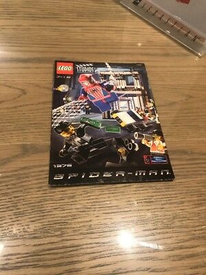 Lego 1376 Spider-Man Action Studio RETIRED 2002 Manual Only BD1