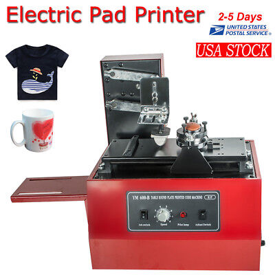 Electric Pad Printer Printing Machine T-Shirt INKPRINT PVC MUG Ballpen Popular